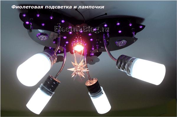 Фиолетовая подсветка