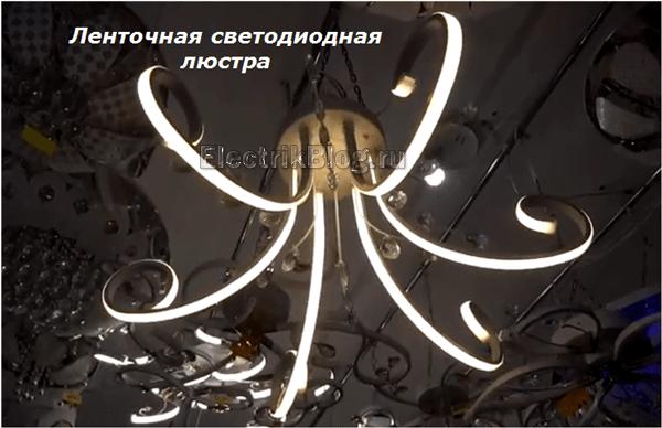 Ленточная светодиодная люстра