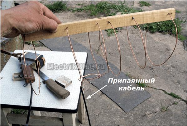 Подключенный кабель