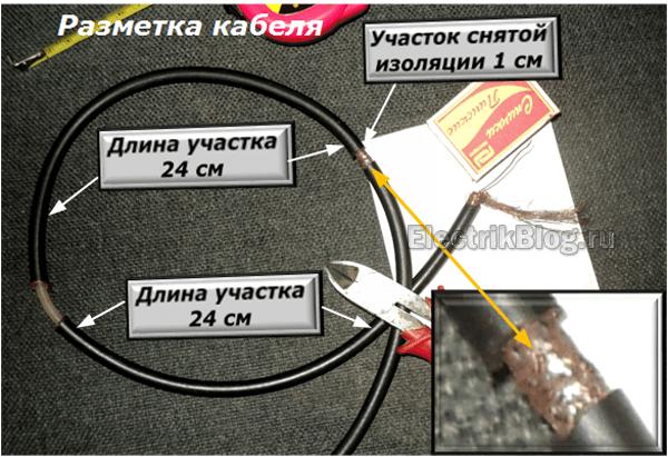Разметка кабеля