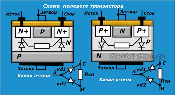 Схема полевого транзистора
