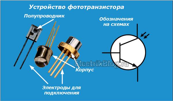 Устройство фототранзистора
