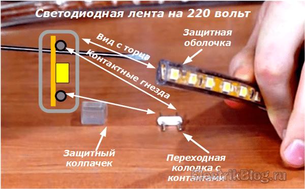 Светодиодная лента на 220 вольт