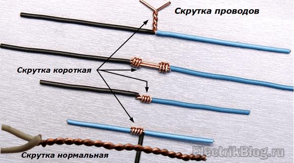 Скрутка проводов