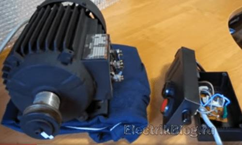 Подключение трёхфазного двигателя к однофазной сети без конденсаторов