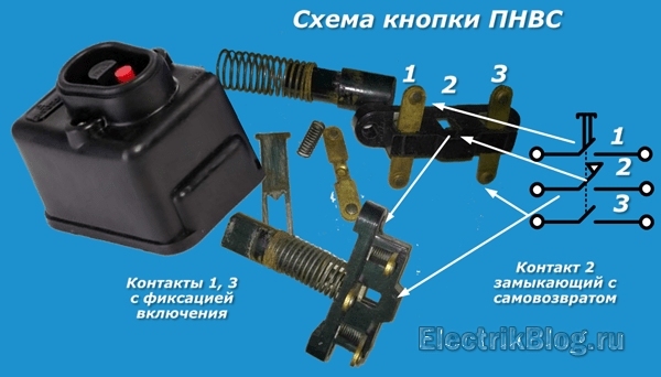 Схема кнопки ПНВС