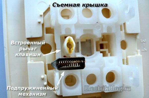 Съемная крышка выключателя