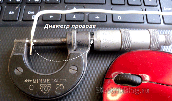 Диаметр провода