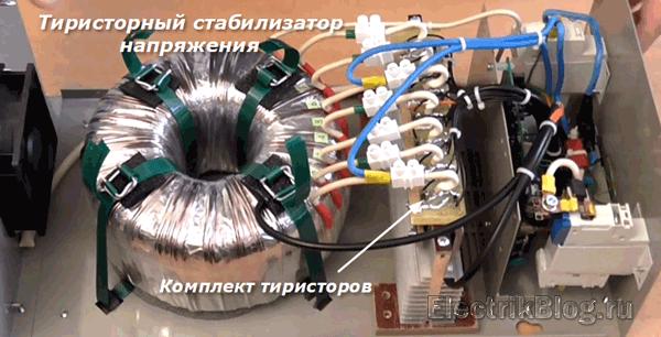 Тиристорный стабилизатор напряжения