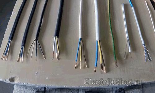 Выбор сечения кабеля по мощности