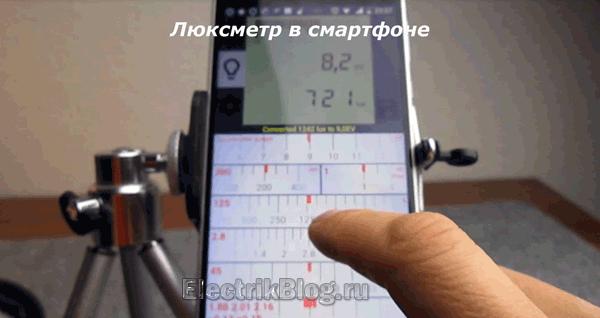 Люксметр в смартфоне