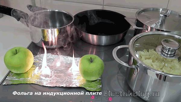 Фольга на индукционной плите