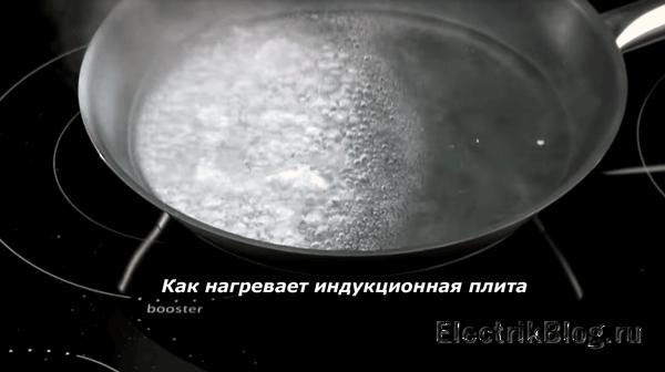 Как нагревает индукционная плита
