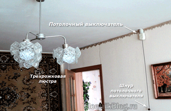 Потолочный выключатель