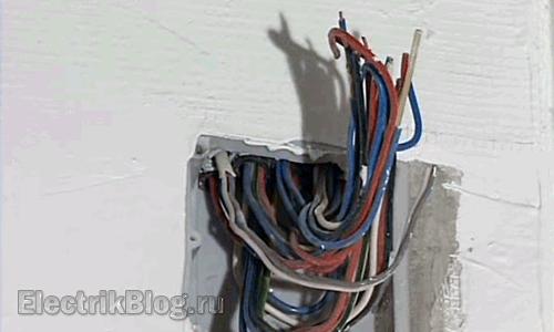 Скрытая прокладка провода
