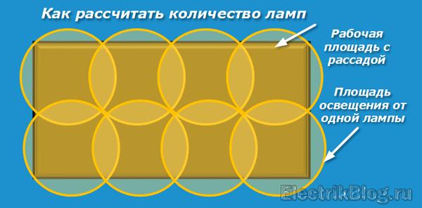 Как рассчитать количество ламп