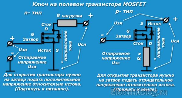 Ключ на полевом транзисторе MOSFET