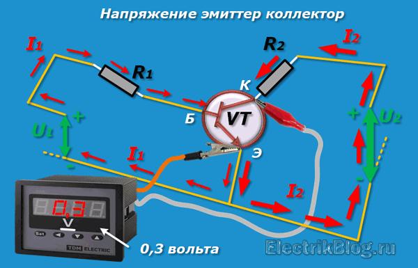 Напряжение эмиттер коллектор