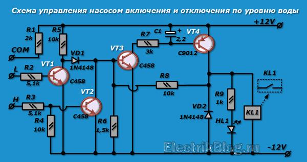 Схема управления насосом